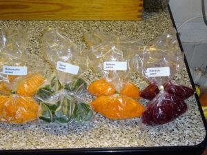 Gemüse püriert und Trocken Gemüse